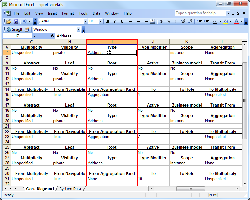 Export Uml Class Diagram To Microsoft Excel