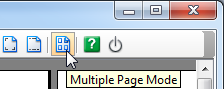 Click Multiple Page Mode button