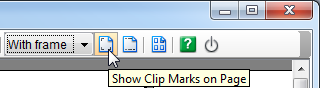 Click Show Clip Marks on Page button