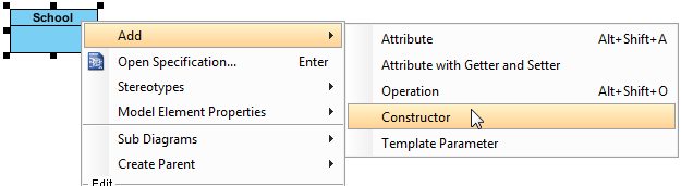 Creating Constructor to a UML class - Visual Paradigm Know-how