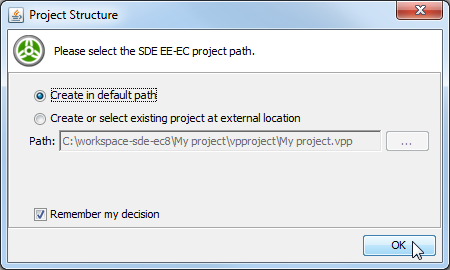 Project Structure dialog box
