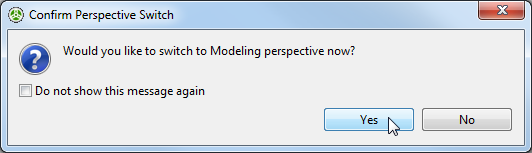 Switch Modeling dialog box