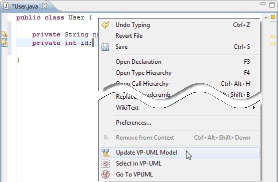 Update to VP-UML model
