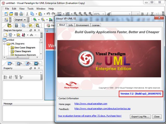 the old version of vp uml - Visual Paradigm For Uml Community Edition
