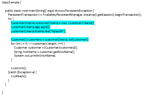 """Criteria-way"" of getting a customer code"