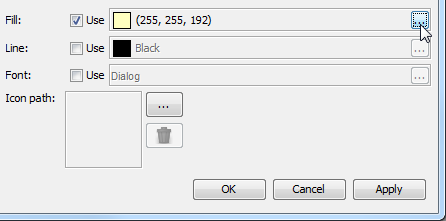 Set a background color for requirement type