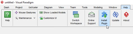 Select Install Plugin from application toolbar