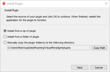 Specify the source of the plugin