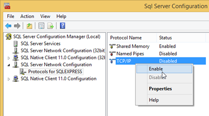 Enable TCP/IP Connection for SQL Server
