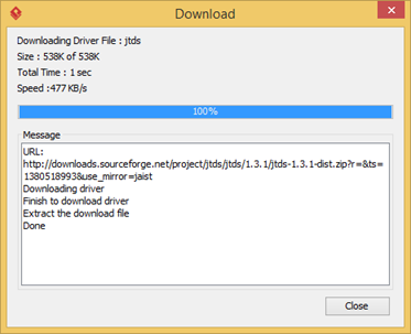 Automatic download driver file