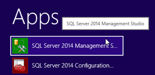 Launch SQL Server Management Studio