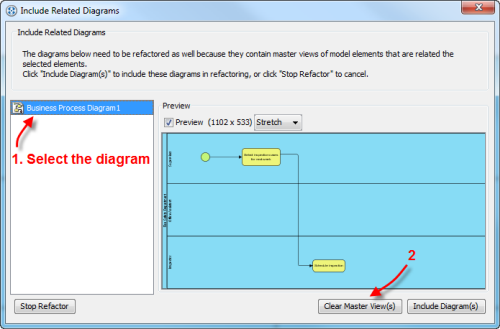The Include Related Diagrams Dialog Box