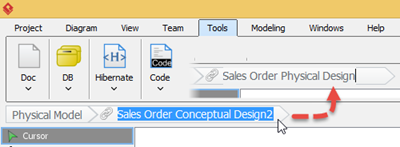 Rename newly generated ERD to Sales Order Physical Design