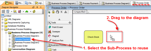 Reuse the Process Order Sub-Process