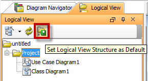Button of Set Logical View Structure as Default