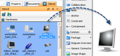 How to import microsoft visio stencils visual paradigm know how using a computer hardware stencil ccuart Gallery