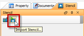 Click the Import Stencil button