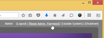 After login with temp password, change your admin password