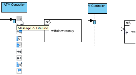 How to model gates in uml sequence diagrams visual paradigm know how 05 add a message to the interaction use ccuart Images