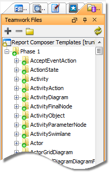 Template files listed in Teamwork Files pane