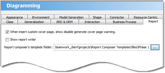 Specify template folder path