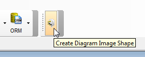 Create diagram image shape from plugin menu
