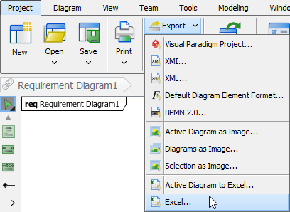 Importing models through excel file visual paradigm know how export dummy model to excel ccuart Gallery