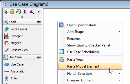 Use Paste Model Element to create a replicate copy.