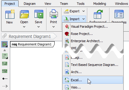 Importing models through excel file visual paradigm know how import excel file back ccuart Gallery