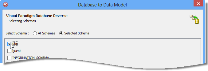 Select the Schema