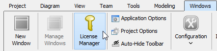 Open License Manager (for Sleek User Interface)