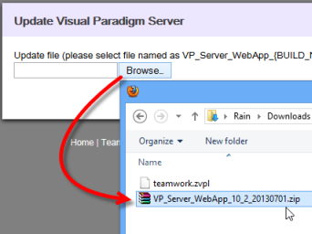 Upload WebApp package to upgrade the server
