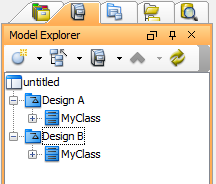 Classes with same names under different models