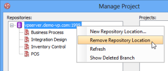 Remove repository from server