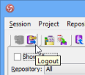 Logout from server
