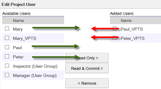 Remove original Teamwork Server user from Project, and add Active Directory User to project