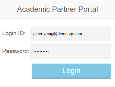 Login to Academic Partner Portal as administrator