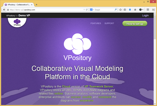 Visit VPository with browser
