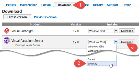 Download WebApp package of the new VP Server