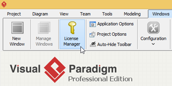 Downgrade your evaluation version of Visual Paradigm to