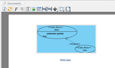 Resulting diagram image in Doc. Composer
