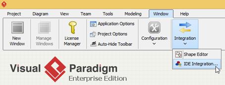 Running Visual Paradigm in Android Studio on MS Windows