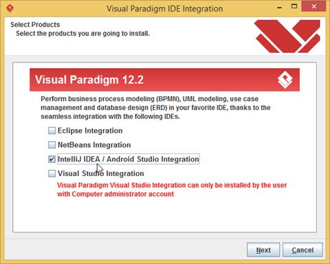 Running Visual Paradigm in Android Studio on MS Windows - Visual