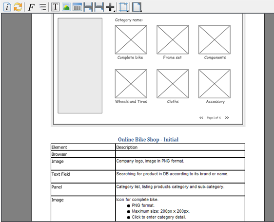 Create Detail Report For Wireframes With Doc. Composer
