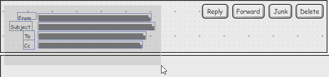 Selecting wireframe widgets