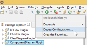 Open Debug Configurations