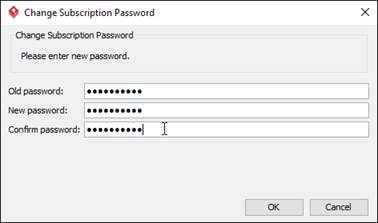 Enter your current password as well as your new password