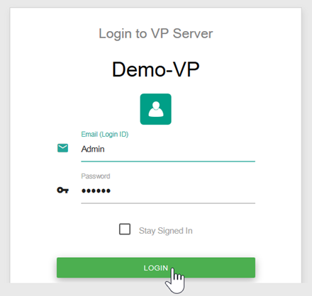 Login to server as Admin