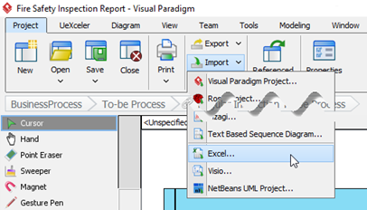 Import the modified Excel back to VP