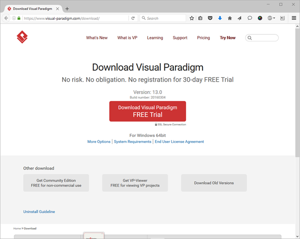 visit the download page of visual paradigm - Visual Paradigm Viewer